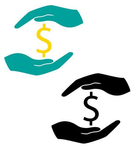 concept de protection et d'amour de l'illustration vectorielle argent vecteur