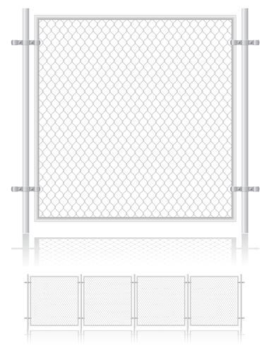 clôture faite ?? d'illustration vectorielle de treillis métallique vecteur