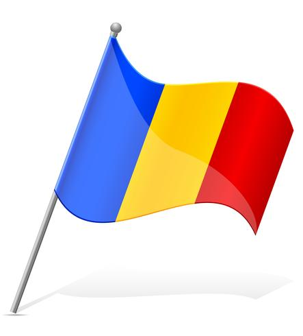 drapeau de l'illustration vectorielle Roumanie vecteur