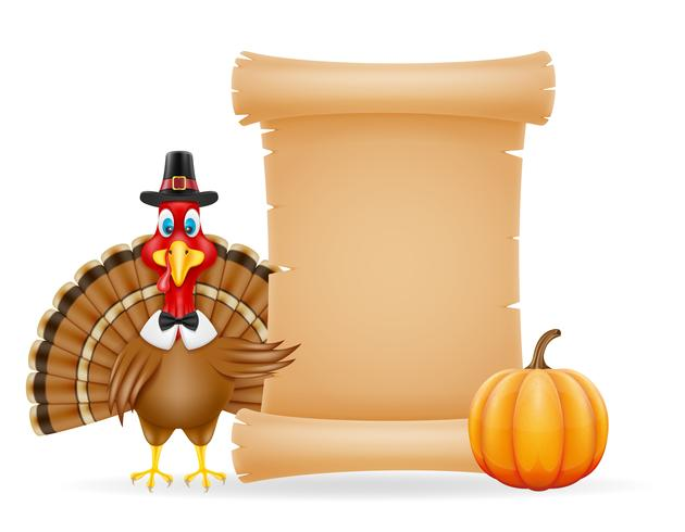 illustration vectorielle de thanksgiving turkey bird vecteur