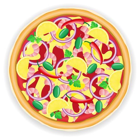 illustration vectorielle pizza vecteur