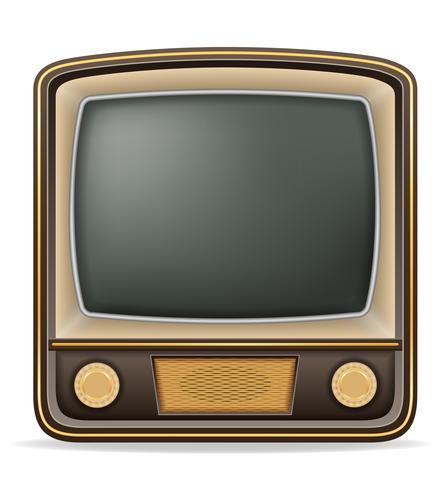 illustration vectorielle vieux tv rétro icône vintage stock vecteur