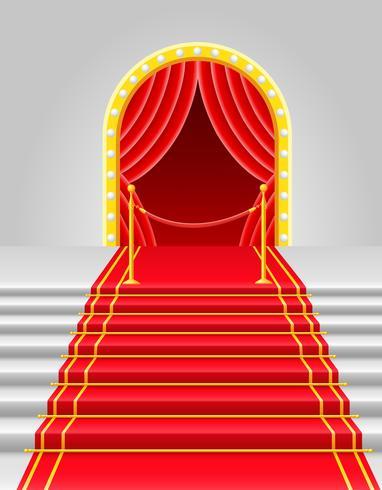 tapis rouge avec illustration vectorielle tourniquet vecteur