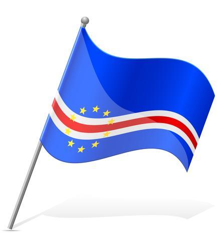 drapeau de l'illustration vectorielle Cap Vert vecteur