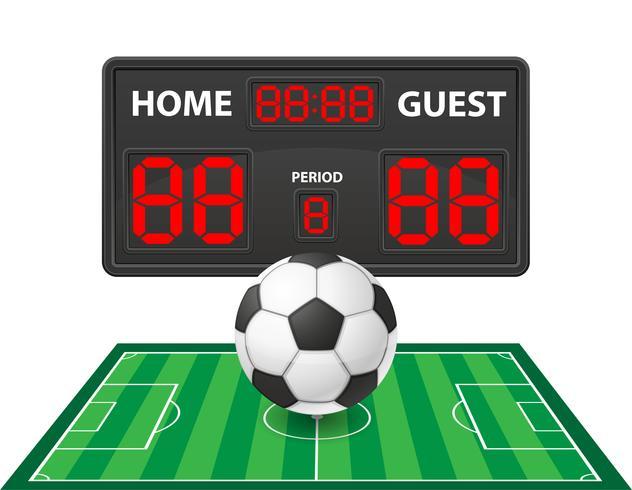 illustration vectorielle de football soccer sport tableau de bord numérique vecteur
