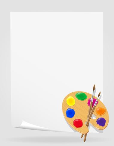 palette pour peintures et illustration vectorielle pinceau vecteur