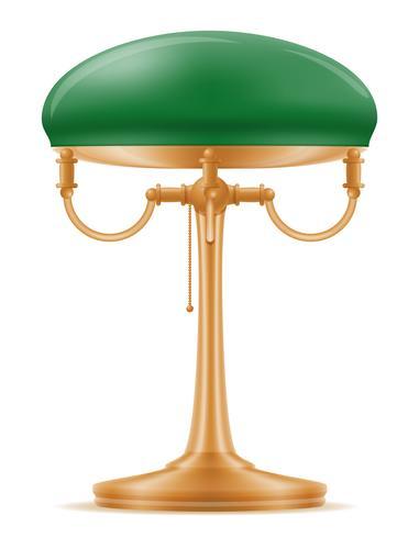 lampe de table ancienne icône vintage rétro illustration vectorielle stock vecteur
