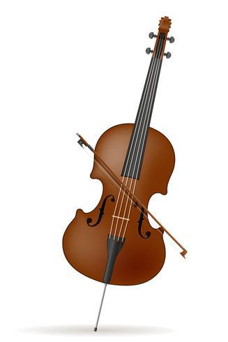 illustration vectorielle stock de violoncelle vecteur