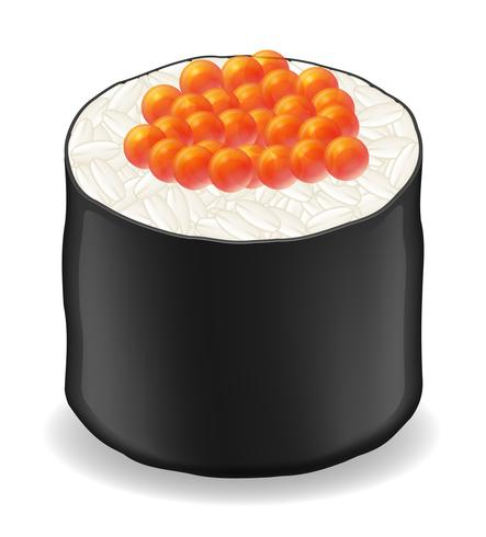 sushi roule en illustration vectorielle nori d'algues vecteur