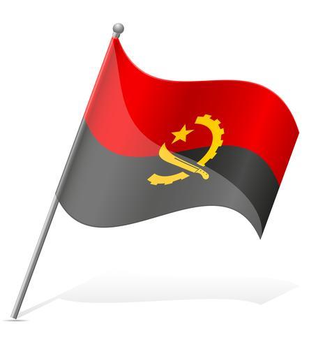 drapeau de l'angola illustration vectorielle vecteur