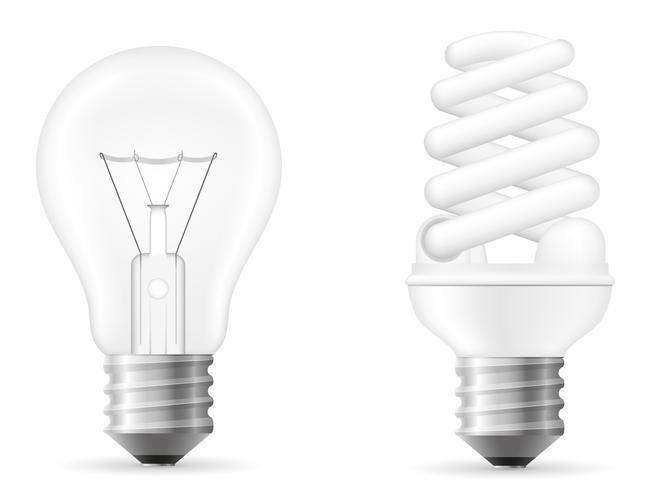 illustration vectorielle ampoule vecteur