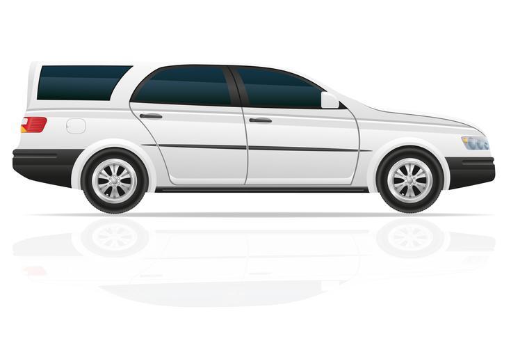illustration vectorielle de voiture touring vecteur
