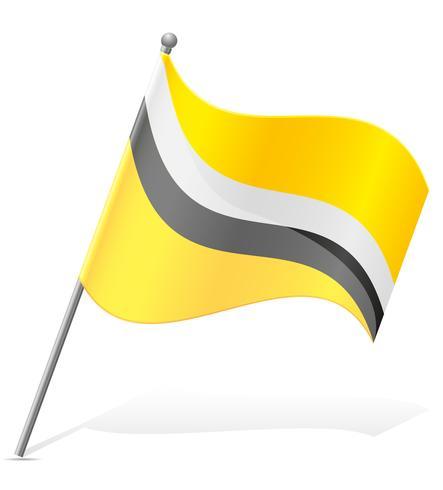 drapeau de l'illustration vectorielle Brunei vecteur