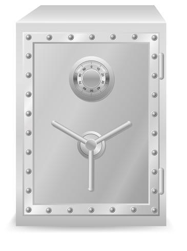 coffre-fort avec illustration vectorielle de serrure à combinaison vecteur