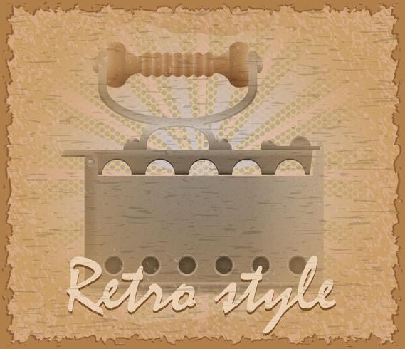 illustration vectorielle de style rétro affiche vieux flatiron vecteur