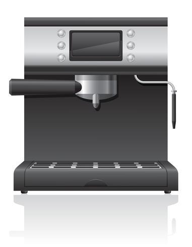 illustration vectorielle cafetière vecteur