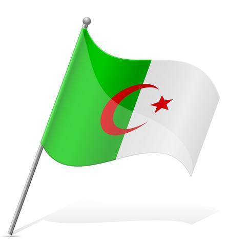 drapeau de l'illustration vectorielle algérienne vecteur
