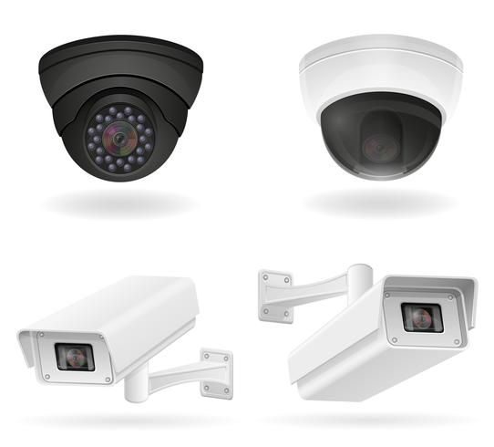 illustration vectorielle de caméras de surveillance vecteur