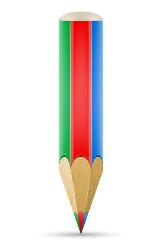 illustration vectorielle d'art créatif crayon concept vecteur