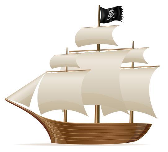 illustration vectorielle de bateau pirate vecteur