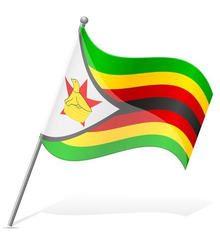 drapeau de l'illustration vectorielle du Zimbabwe vecteur