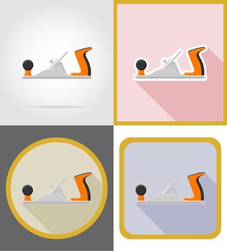 outils de réparation de menuiserie et de construction icônes plats vector illustration