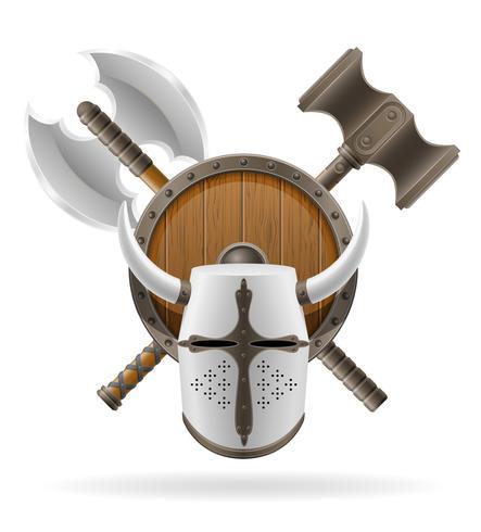 ancienne bataille armes illustration vectorielle stock vecteur