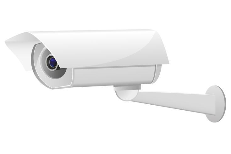 illustration vectorielle de caméra de surveillance vidéo vecteur