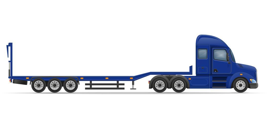 camion semi remorque pour le transport de l'illustration vectorielle de voiture vecteur