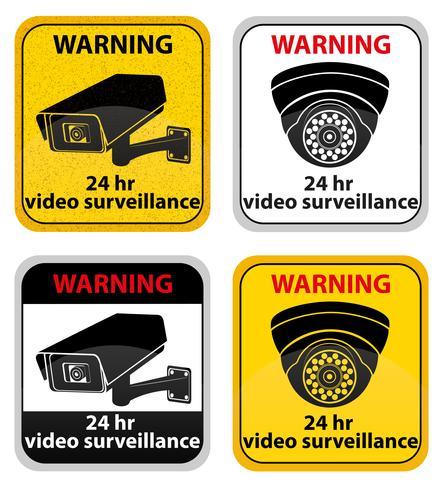 illustration vectorielle de signe de surveillance vidéo vecteur