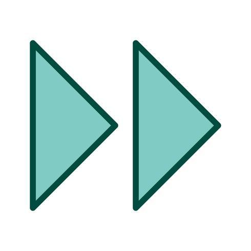 Conception d'icône de flèches vers l'avant vecteur