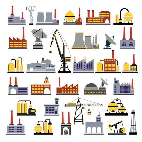 Bâtiments industriels vecteur