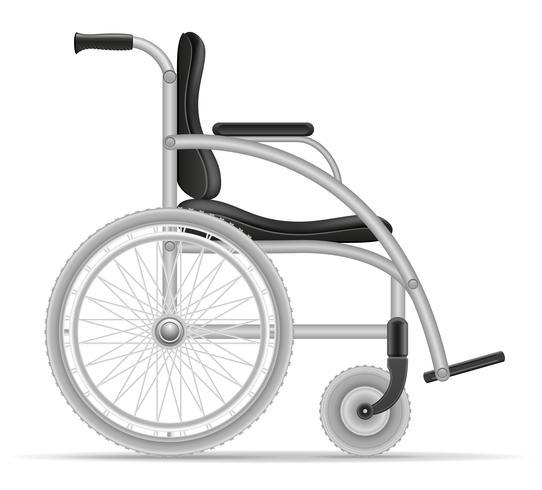fauteuil roulant pour personnes handicapées illustration vectorielle stock vecteur