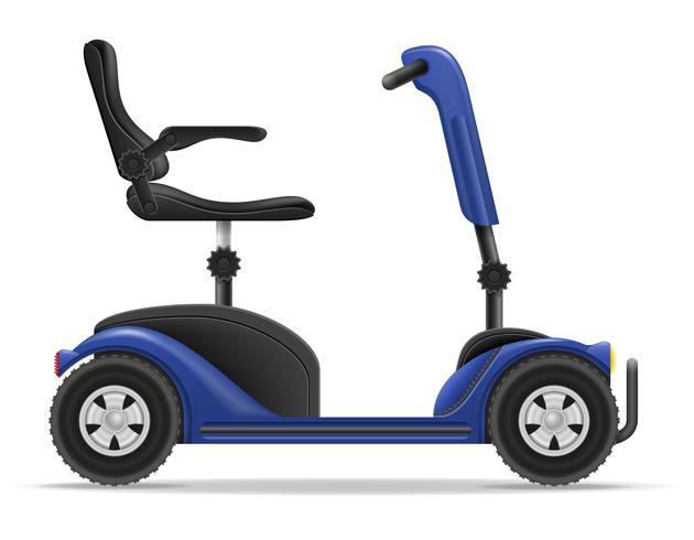 fauteuil roulant électrique pour personnes handicapées illustration vectorielle stock vecteur