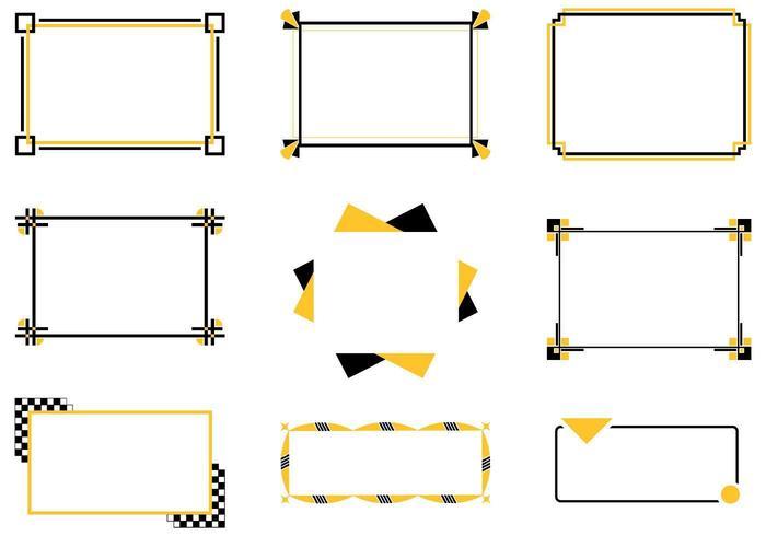 Ensemble vectoriel de bordures rétro géniales