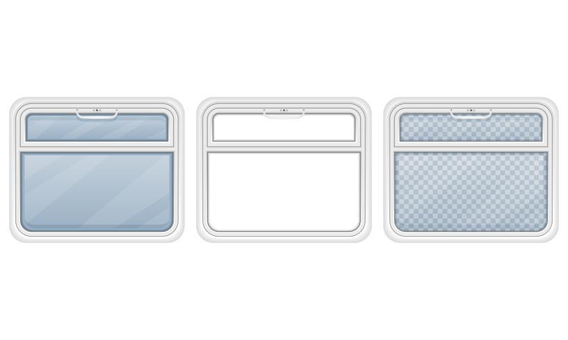 fenêtre dans l'illustration vectorielle de compartiment de train vecteur