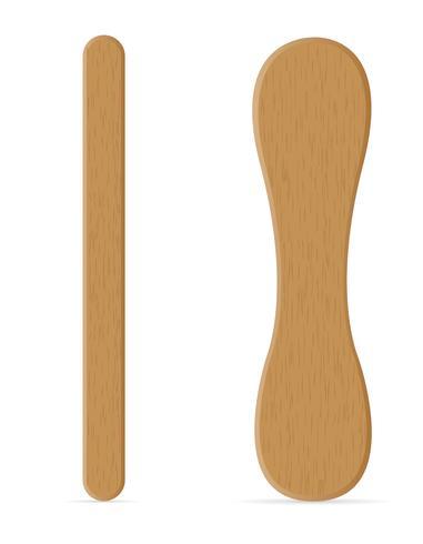 bâtons en bois pour l'illustration vectorielle de crème glacée vecteur