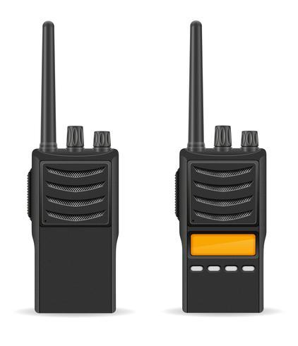 talkie-walkie communication radio illustration vectorielle vecteur