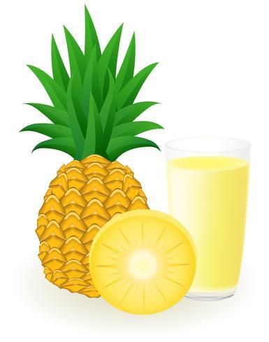 illustration vectorielle de jus d'ananas vecteur