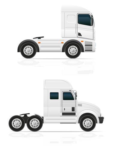 gros camion tracteur pour illustration vectorielle de transport cargo vecteur