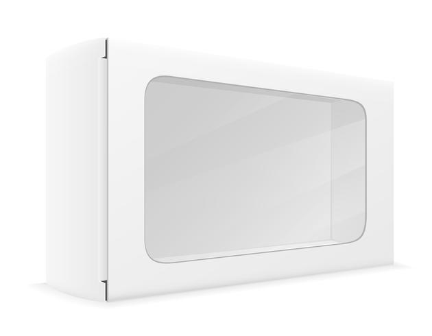 livre blanc carton boîte emballage illustration vectorielle vecteur