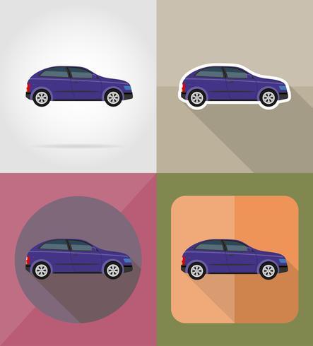 voiture transport plats icônes vector illustration