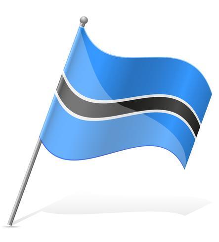 drapeau de l'illustration vectorielle du Botswana vecteur