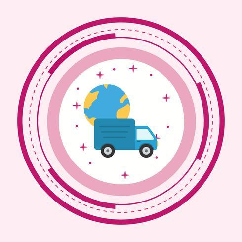 Conception d'icônes de livraison globale vecteur