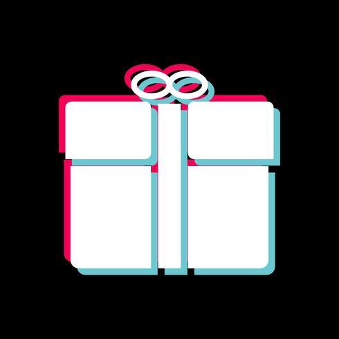 Conception d'icône cadeau vecteur