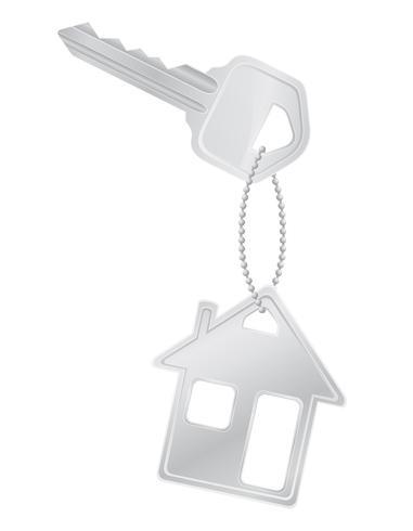 illustration vectorielle de maison clé porte serrure vecteur