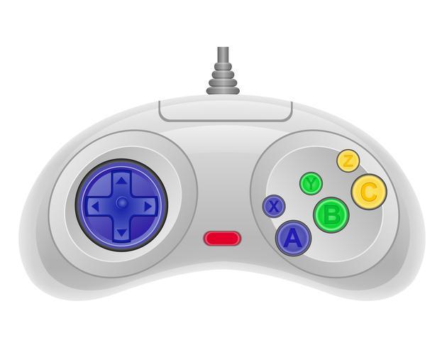 manette de jeu pour illustration vectorielle de console de jeu EPS 10 vecteur