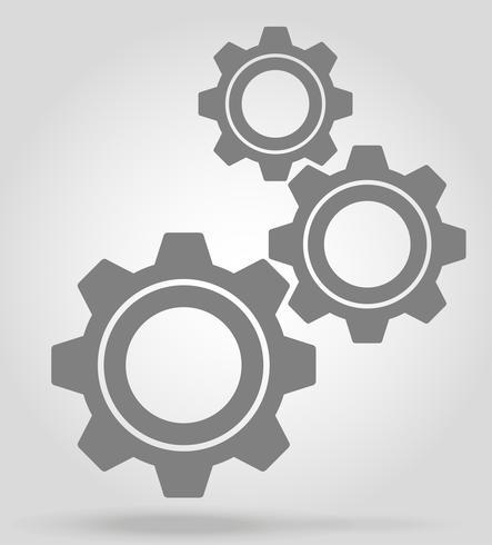 illustration vectorielle d'icône gear vecteur