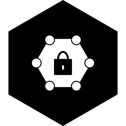 Conception d'icône de réseau protégé vecteur