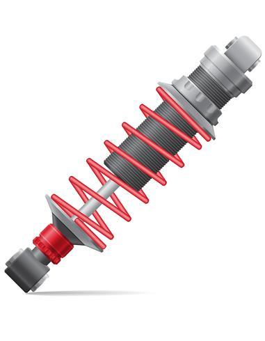 illustration vectorielle de voiture amortisseur vecteur